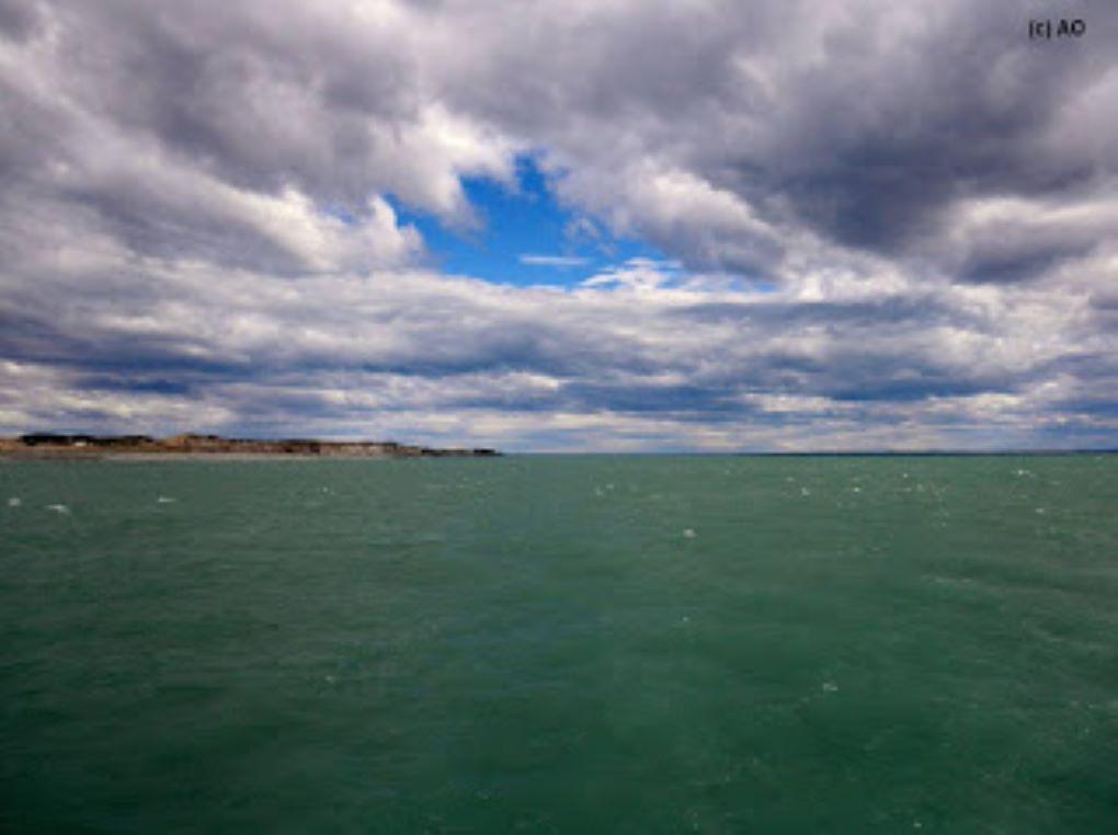 Intensas nevazones en el sector San Gregorio y en el cruce de Primera Angostura del estrecho de Magallanes