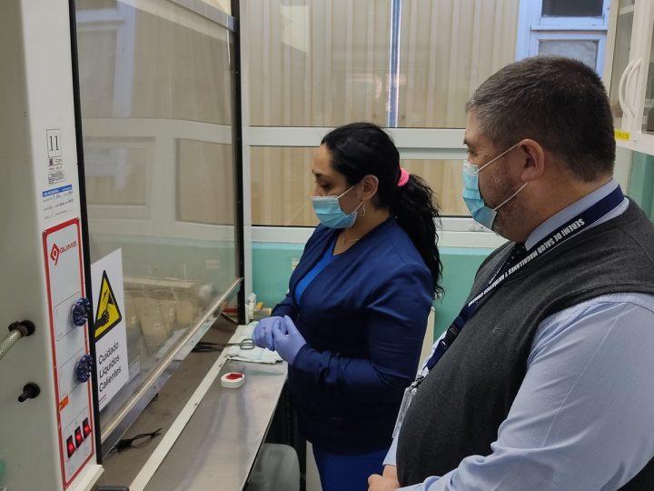Salud avanza en renovación de acreditación del Instituto Nacional de Normalización para el área de toxinas marinas.